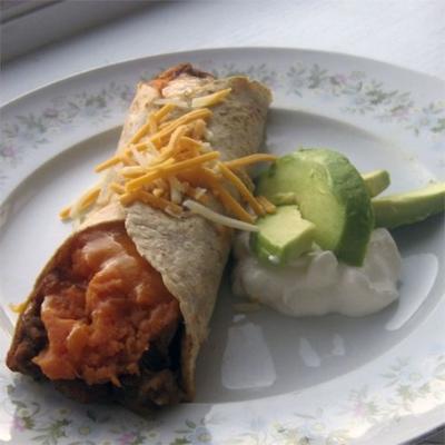 süchtig machende Süßkartoffel-Burritos