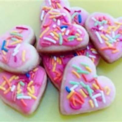 einfach ausgeschnittene Kekse