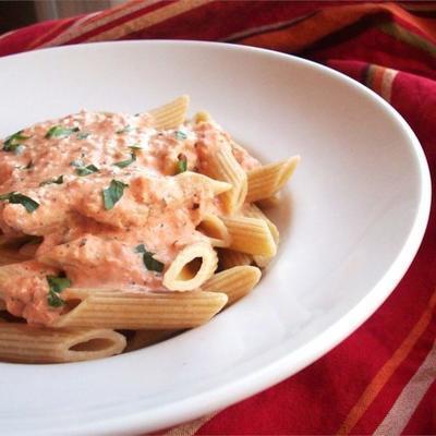 Tomaten-Sahne-Sauce für Nudeln