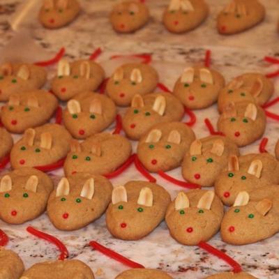 Erdnussbutter-Weihnachtsmäuse
