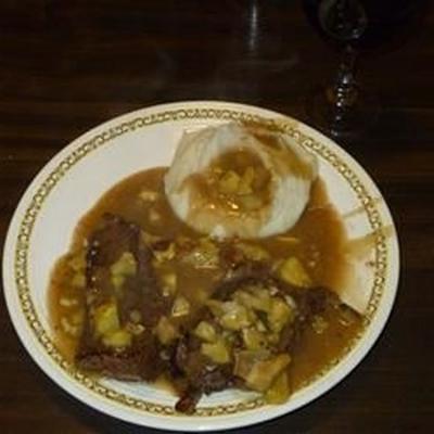 Hirsch-Steak vom großen Joe in Kastanien-Sauce