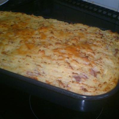 einfache Hirtenpastete mit Knoblauch-Romanokartoffeln