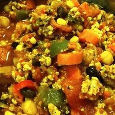 schwarze Bohnen und Kichererbsen Chili
