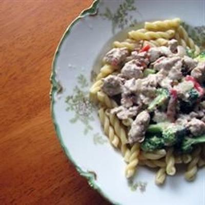 Wurst-Brokkoli-Nudeln
