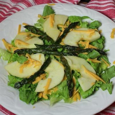 gerösteter Spargel und Apfelsalat