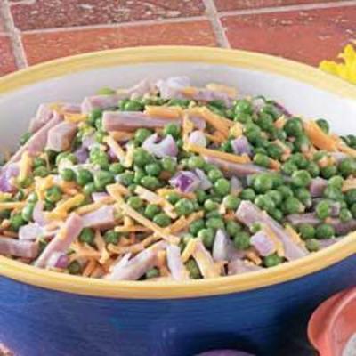 Schinken-Erbsen-Salat