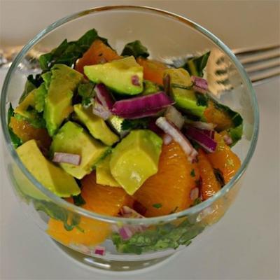 Mandarinorange, Koriander und Avocado-Salsa