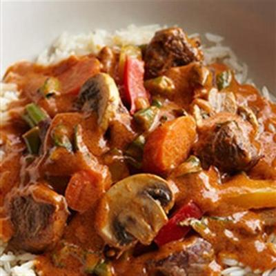 Bisonroter Curry