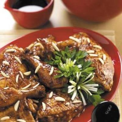 langsam gekochtes orientalisches Huhn