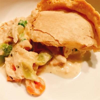 Chicken Pot Pie Alfredo