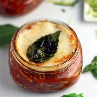 gebackene Zucchini-Tassen