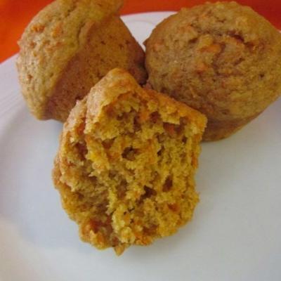 böse Vollweizen-Orangen-Karotten-Muffins