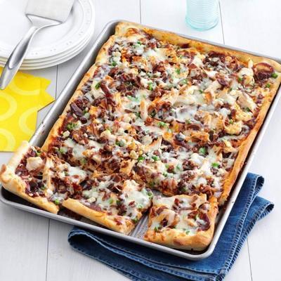 würzige Barbecue-Hähnchen-Pizza