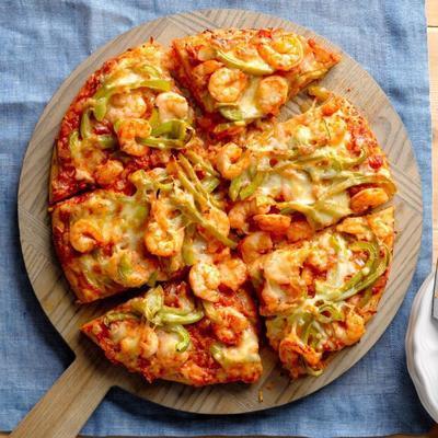Garnelen kreolische Pizzatorte