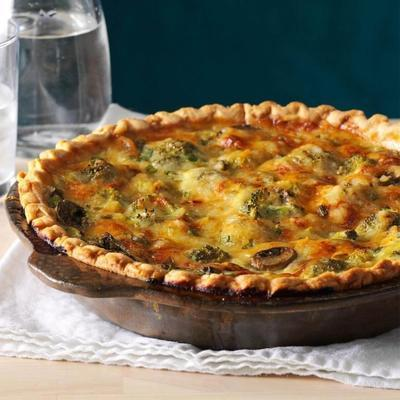 Champignons-Broccoli-Quiche