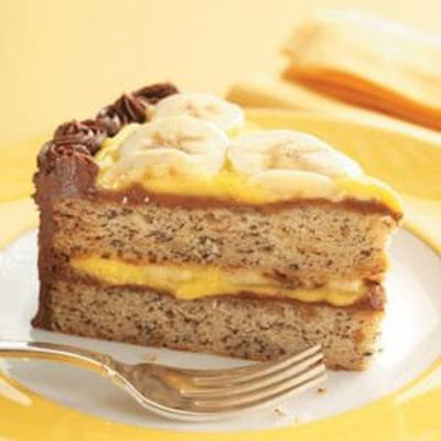 Bananen-Sahne-Torte mit Schokoladenglasur