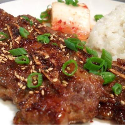 kalbi (koreanisch marinierte kurze rippen)