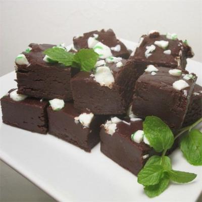 Pfefferminzfondant aus dunkler Schokolade