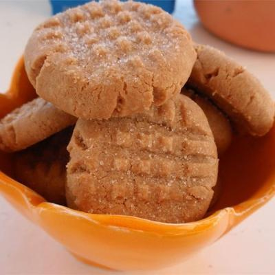 drei Zutaten Erdnussbutter Kekse