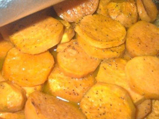 Süßkartoffeln mit Orangenglasur