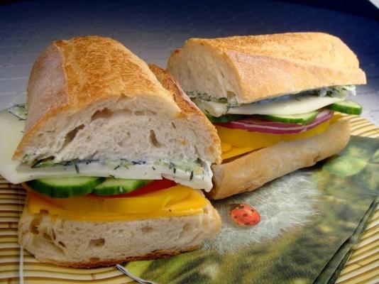 Veggie-Salat-Sandwich