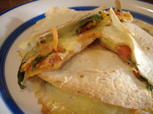 Tortilla-Gemüse schmilzt