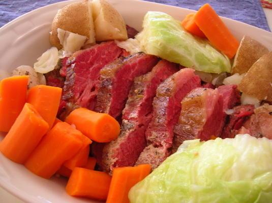 Crock Pot Corned Beef und Kohl