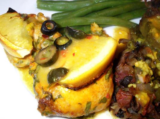 Hühnchen mit Oliven und Zitrone