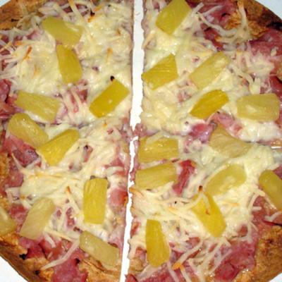 Teriyaki Tortilla Pizza für einen