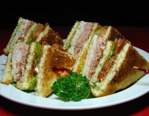 Truthahn-Club-Sandwich