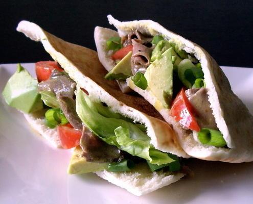 Rindfleisch Avocado-Taschen