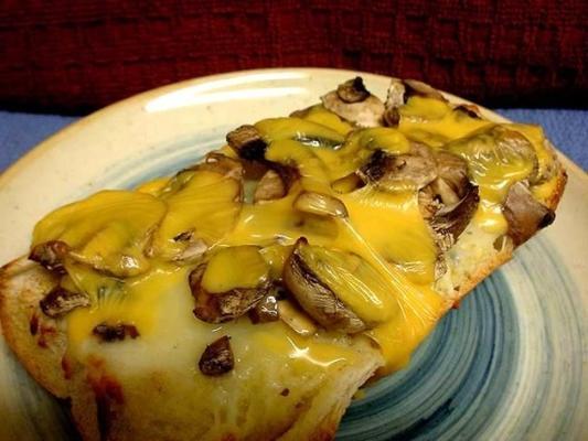 2-Käse-Pilz-Toast