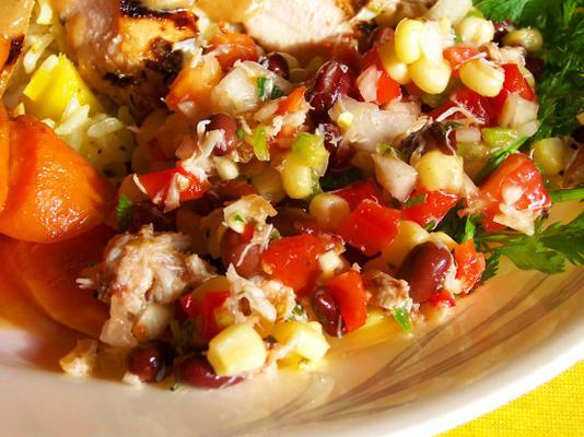Krabbenmais- und Bohnensalat