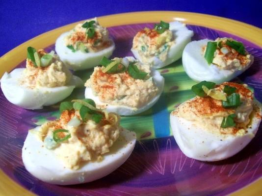 mexi salsa deviled eggs