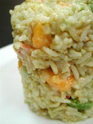 Garnelen-Reis-Salat