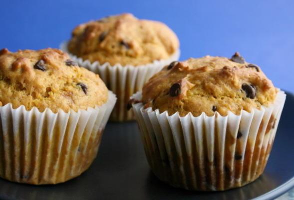 Schokoladenchip-Kürbis-Muffins