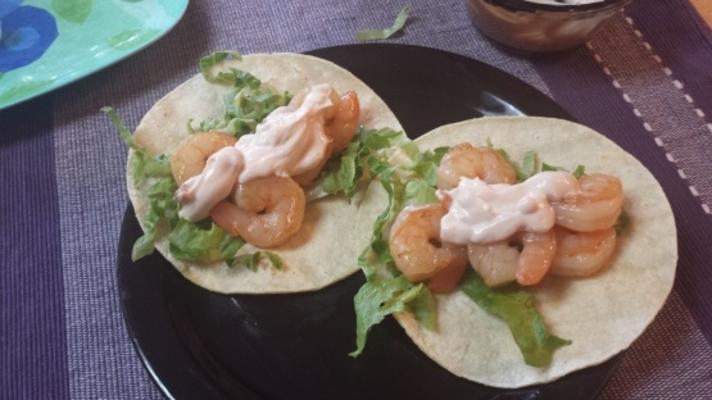 Honig-Kalk-Garnelen-Tacos