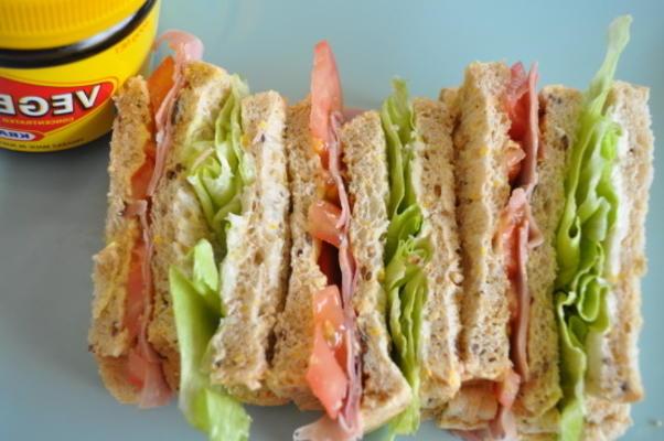 Vegemite Triple-Decker Sandwich