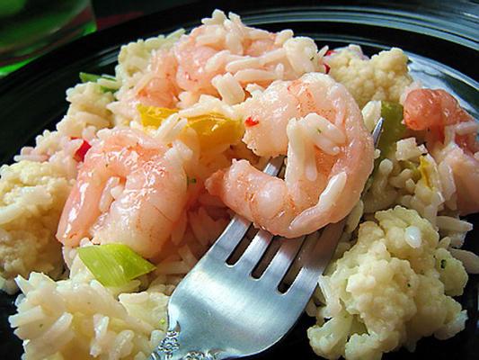 Garnelen- und Reissalat
