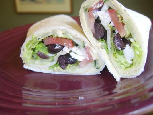 Griechischer Salat Wrap