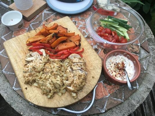 libanesisches Chicken Wrap Sandwich