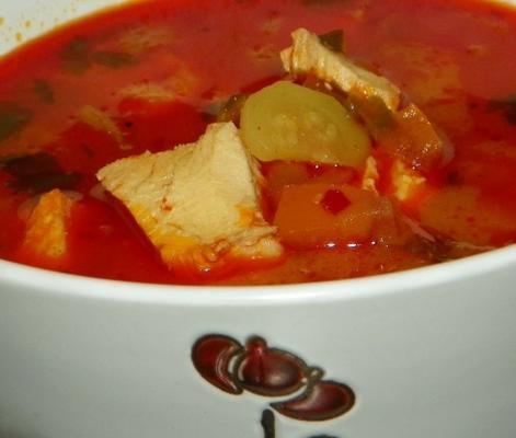 Hühnersuppe mit roter Curry-Kokosnuss