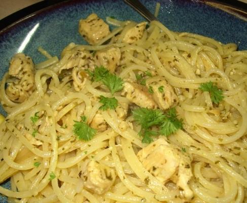 Spaghetti mit Limettenhuhn