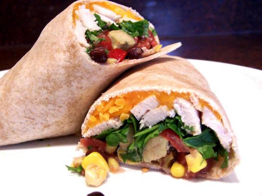 Wraps mit Chili-Limetten-Hähnchen und Avocado
