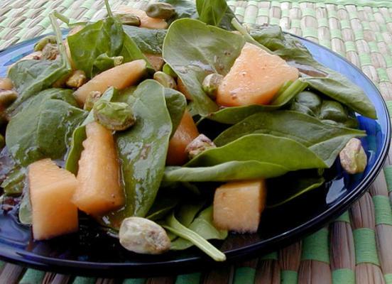 Cantaloupe-Spinat-Salat