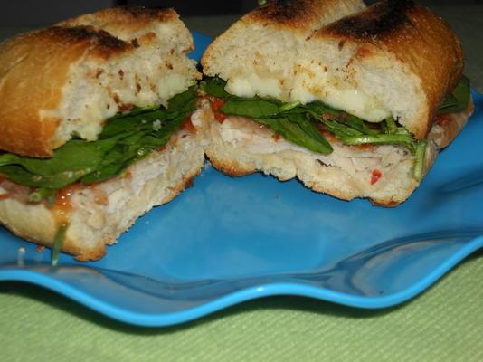 süßes heißes Truthahn-Brie-Sandwich