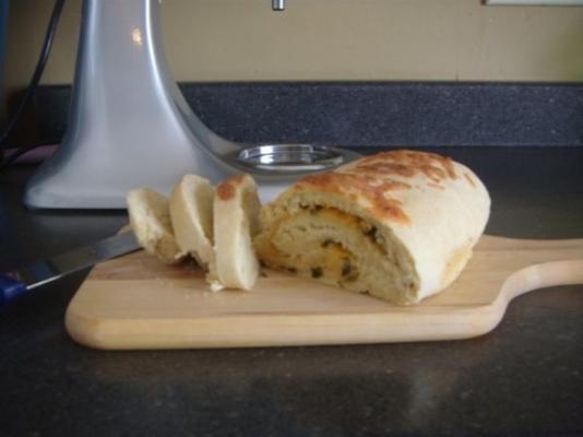 Zwiebel Cheddar schnelles Brot