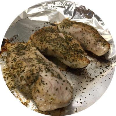 saftige ofengebackene italienische Hühnerbrust