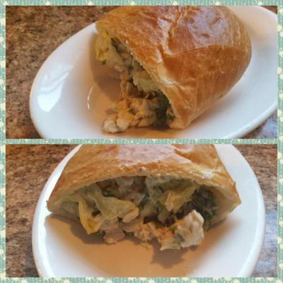 Gefüllte Hähnchen-Caesar-Salat-Sandwiches
