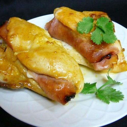 Gefüllte Hähnchenbrust mit Honigsenf